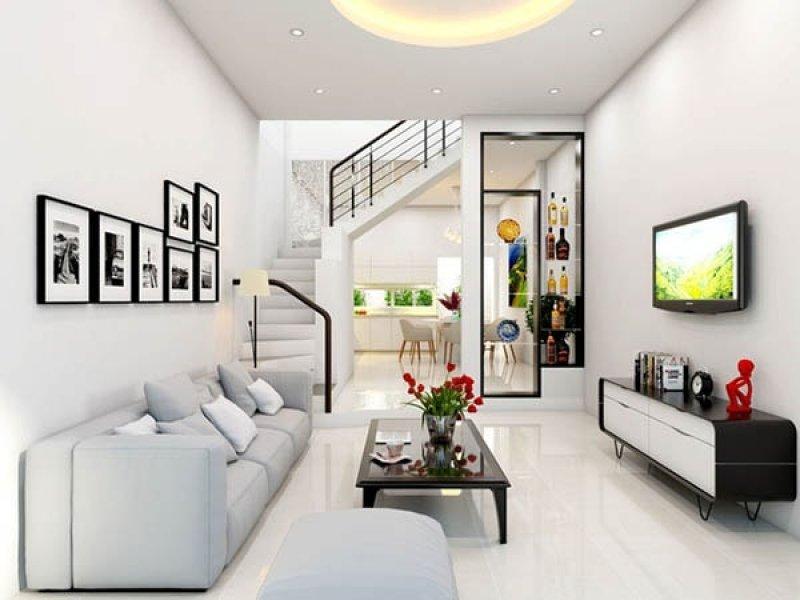 14 mẫu phòng khách hiện đại cho nhà phố nhỏ hẹp năm 2018 thumbnail