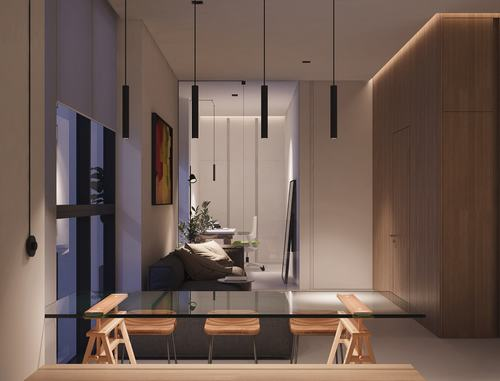 Mẫu nhà đẹp căn hộ 40m2 sang trọng cho cặp đôi mới cưới thumbnail