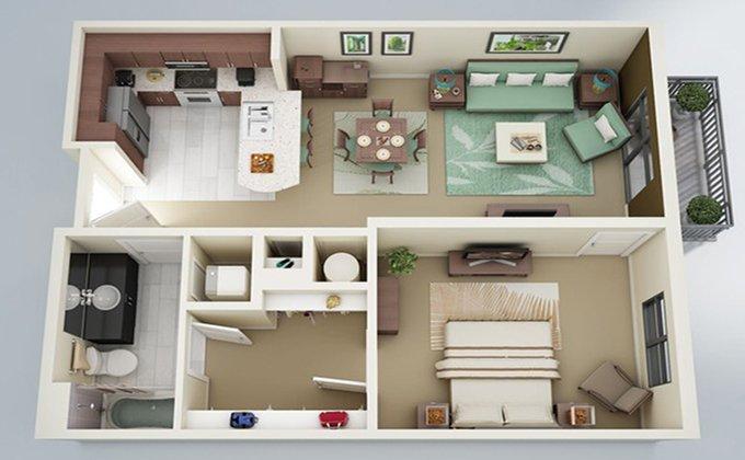 Xu hướng thiết kế căn hộ 1 phòng ngủ cho cặp đôi mới cưới post image