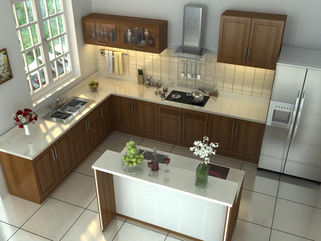 10 mẫu nhà bếp đẹp đơn giản chi phí thấp