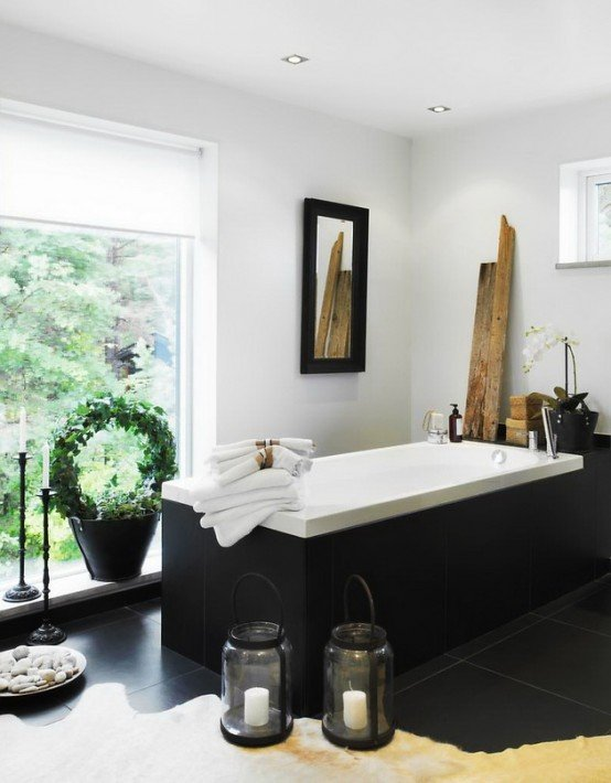 Thiết kế phòng tắm sang trọng giống spa