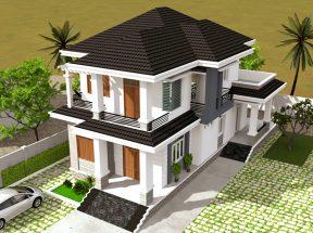 Mẫu thiết kế nhà 2 tầng mặt tiền 8m được đánh giá cao thumbnail