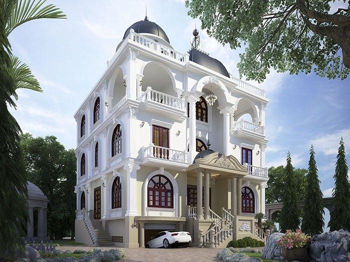 Mẫu nhà phố cổ điển 4 tầng đẹp sang trọng tại Hà Nội