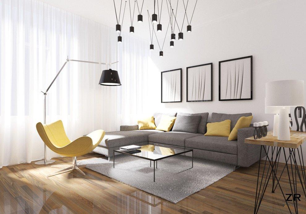 Kiểu phòng khách hiện đại theo phong cách Lumineau