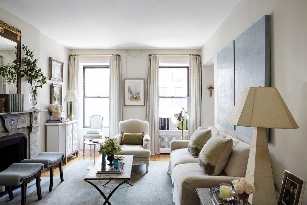 Mẫu phòng khách sang trọng mang đậm phong cách châu Âu cho căn hộ chung cư