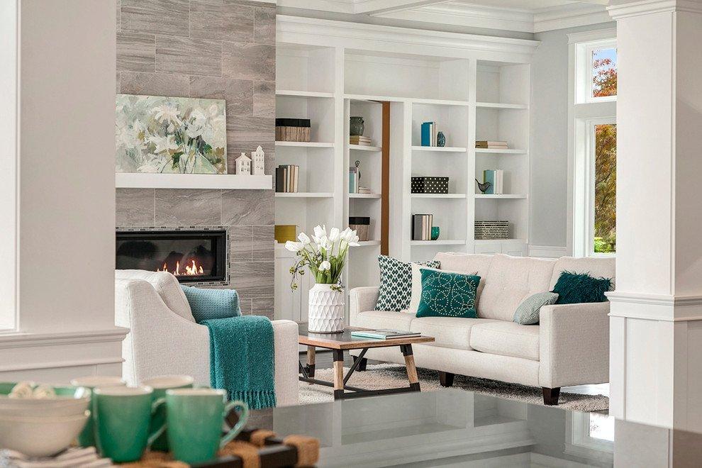 Kiểu phòng khách kết nối mọi không gian: bếp, sảnh đón - ý tửng tuyệt vời cho thiết kế phòng khách nhà phố, căn hộ