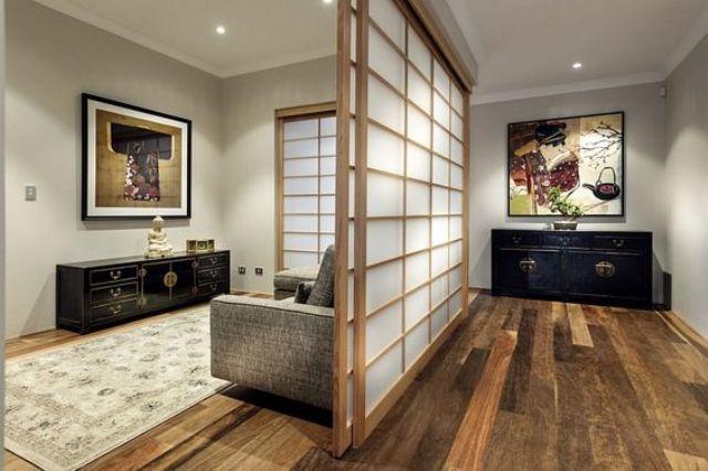 Cửa trượt ngăn không gian trong ngôi nhà - một phong cách rất Nhật
