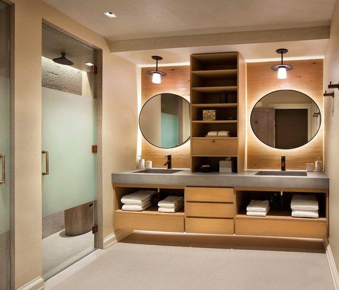 Tận hưởng sự thoải mái, thư giãn tuyệt vời với mẫu phòng tắm tinh tế rộng rãi, thoáng đãng