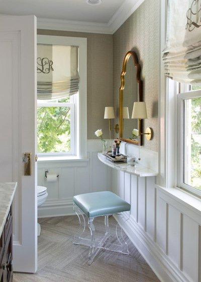 Mẫu phòng tắm đẹp nhờ biết cách tận dụng đồ nội thất vào không gian phòng tắm chật hẹp