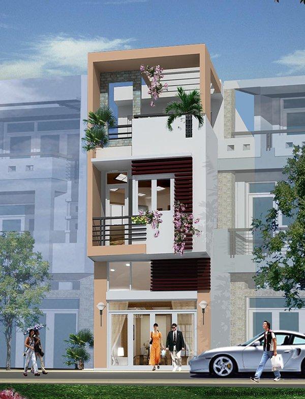 Mẫu thiết kế nhà 2 tầng 1 tum 01