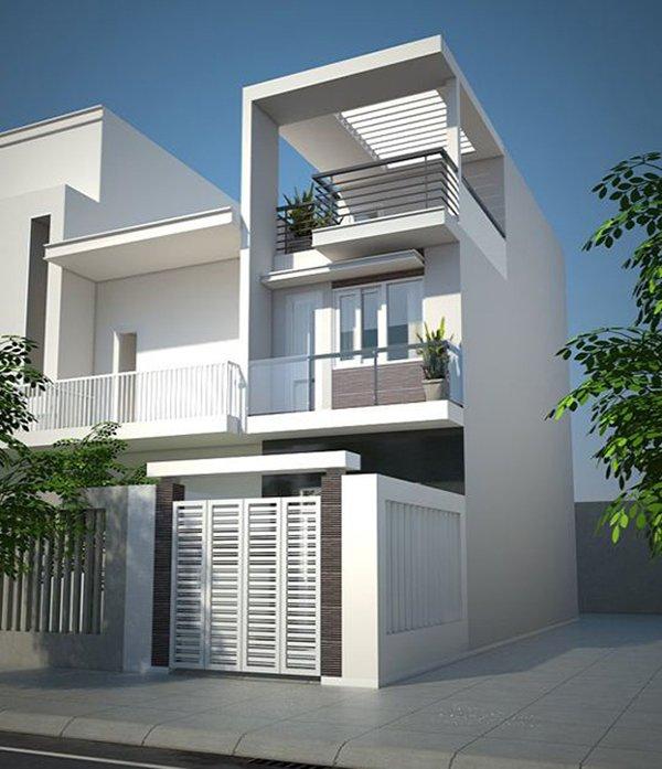 Mẫu thiết kế nhà 2 tầng 1 tum 03