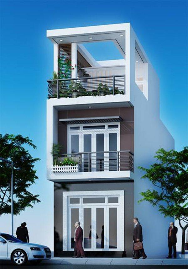 Mẫu thiết kế nhà 2 tầng 1 tum 02