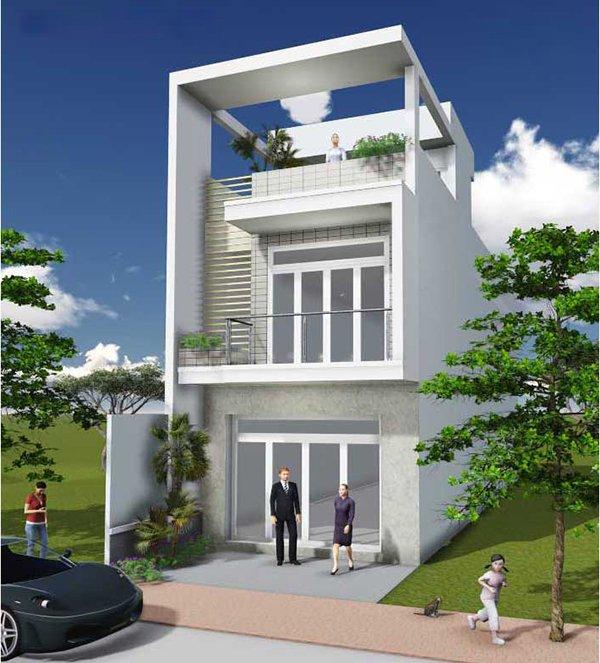 Mẫu thiết kế nhà 2 tầng 1 tum 11