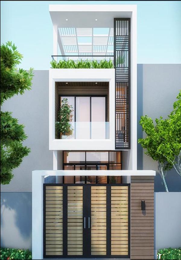 Mẫu thiết kế nhà 2 tầng 1 tum 10