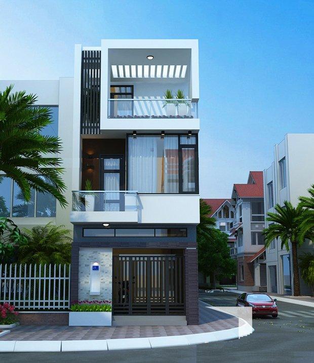 Mẫu thiết kế nhà 2 tầng 1 tum 09