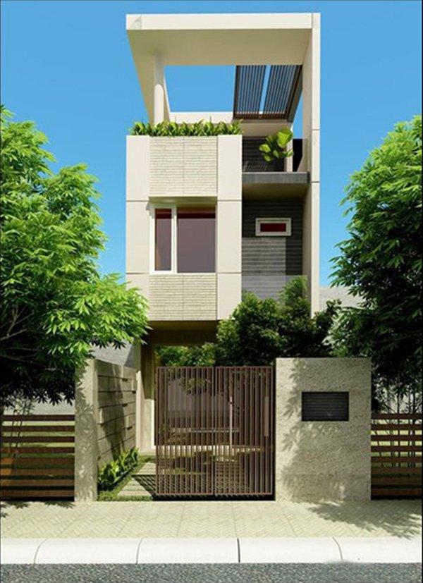 Mẫu thiết kế nhà 2 tầng 1 tum 08