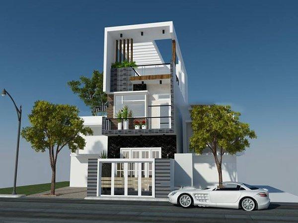 Mẫu thiết kế nhà 2 tầng 1 tum 07