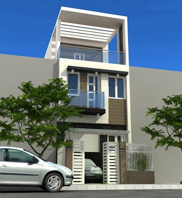 Mẫu thiết kế nhà 2 tầng 1 tum 05