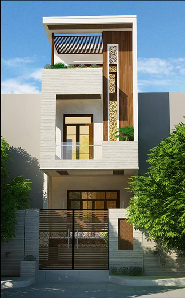 Mẫu thiết kế nhà 2 tầng 1 tum 04