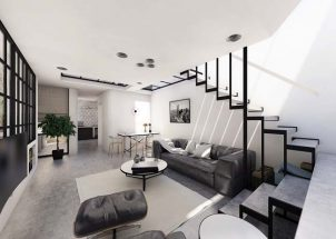 Mẫu nhà 2 tầng đơn giản thiết kế hiện đại độc đáo & cá tính thumbnail