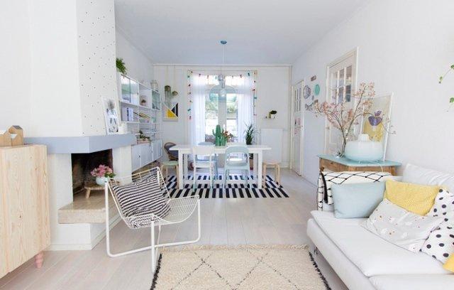 Thiết kế phòng khách Scandinavia với tông màu Pastel ngọt ngào post image