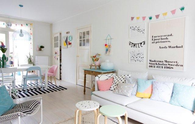 Thiết kế phòng khách Scandinavia với tông màu Pastel ngọt ngào thumbnail