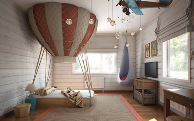 Ý tưởng phòng ngủ giàu trí tưởng tượng cho bé trai thumbnail