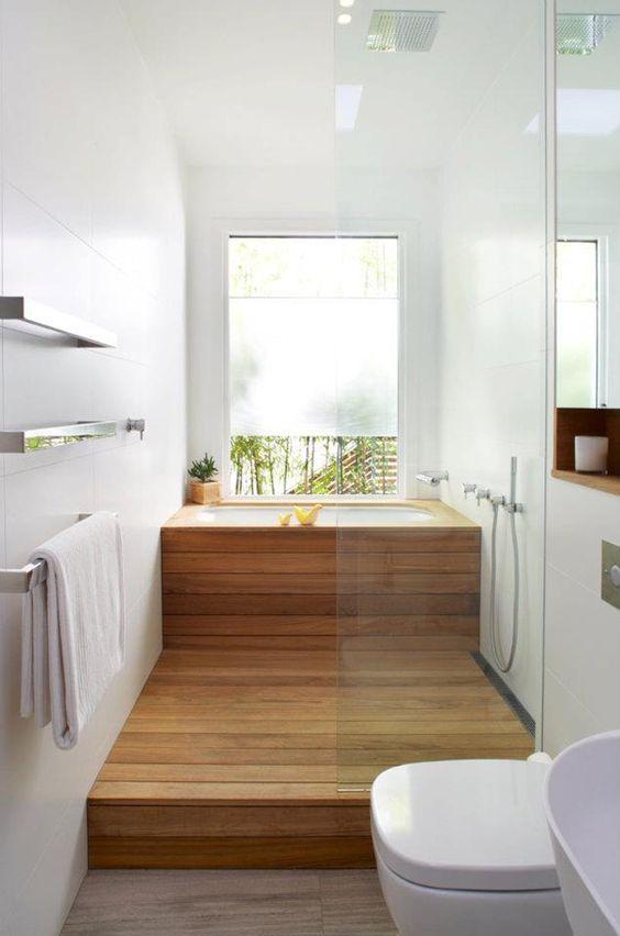 Bao gồm một bồn tắm thông thường ngâm gỗ và không gian tắm cũng để đạt được cái nhìn lấy cảm hứng từ Nhật Bản