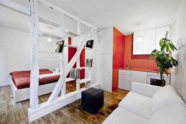 Thật bất ngờ với thiết kế nội thất thông minh căn hộ nhỏ tại Paris post image
