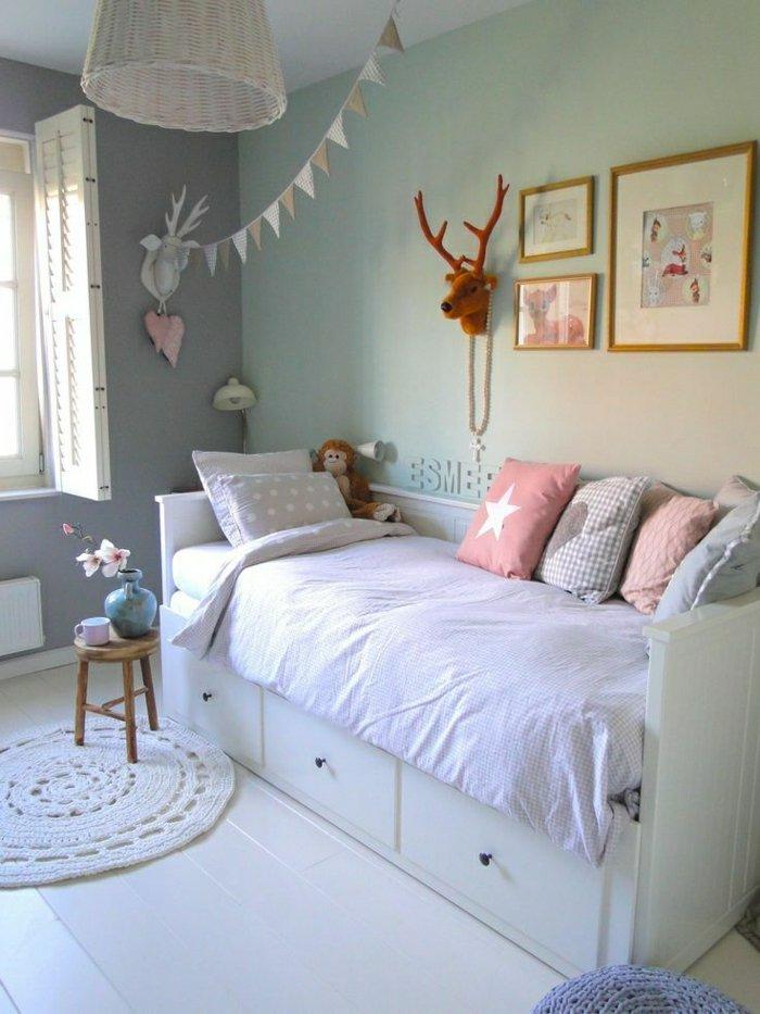 Phòng ngủ bé gái với tone màu nhẹ nhàng