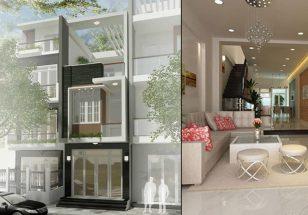 Mẫu thiết kế nhà 2 tầng 3 phòng ngủ hiện đại theo kiến trúc nhà phố thumbnail