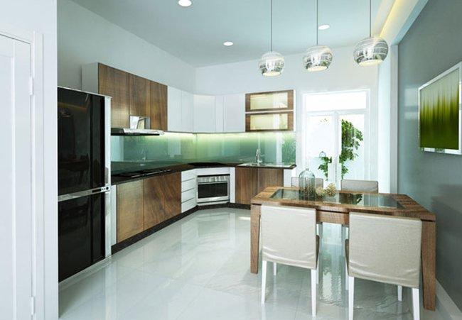 Thiết kế nhà 2 tầng 3 phòng ngủ - Phòng bếp