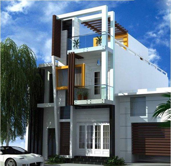 Mẫu thiết kế nhà phố 2 tầng 30