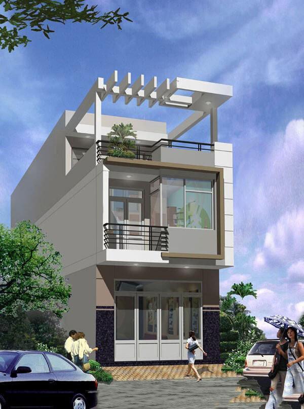 Mẫu thiết kế nhà phố 2 tầng 11