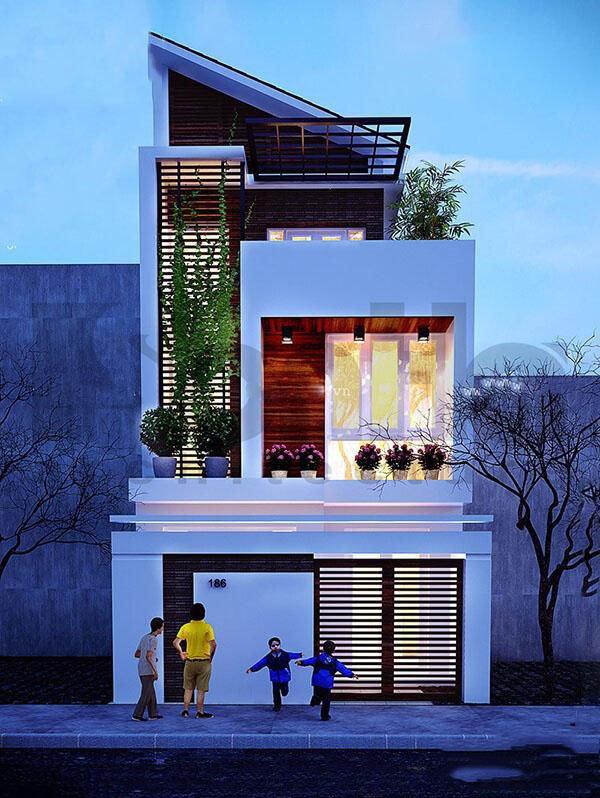 Mẫu thiết kế nhà phố 2 tầng 10