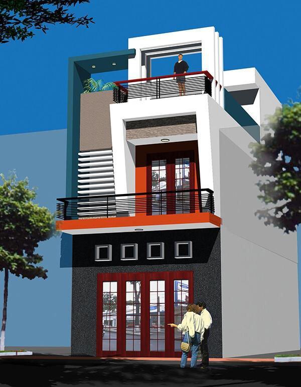 Mẫu thiết kế nhà phố 2 tầng 09