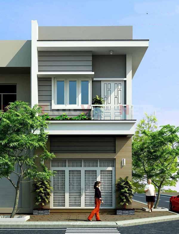 Mẫu thiết kế nhà phố 2 tầng 08