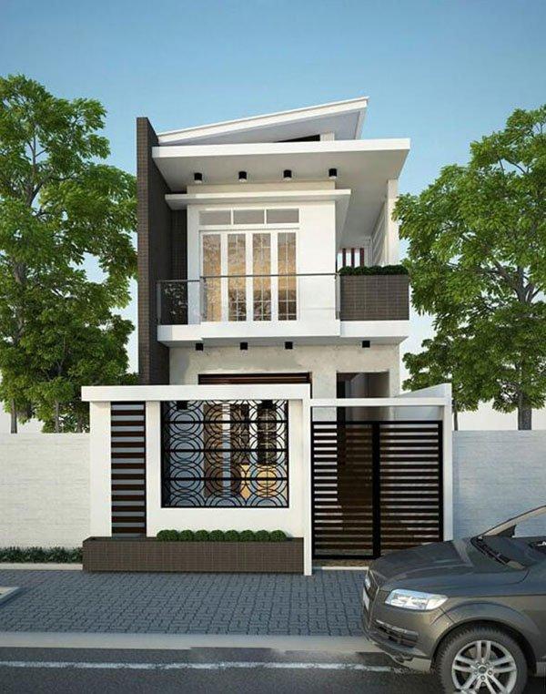 Mẫu thiết kế nhà phố 2 tầng 07