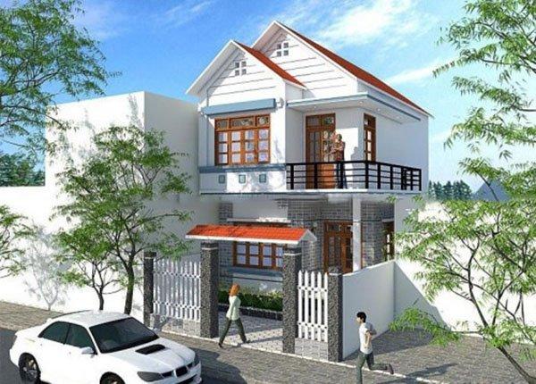 Mẫu thiết kế nhà phố 2 tầng 06