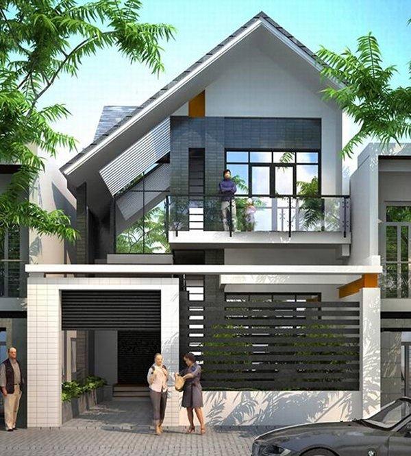 Mẫu thiết kế nhà phố 2 tầng 05