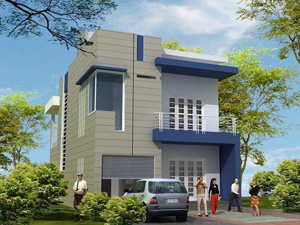 Mẫu thiết kế nhà phố 2 tầng 04