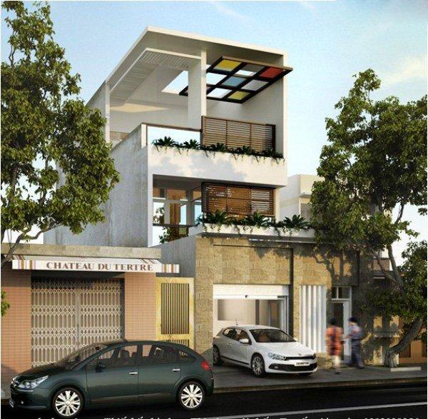 Mẫu thiết kế nhà phố 2 tầng 01