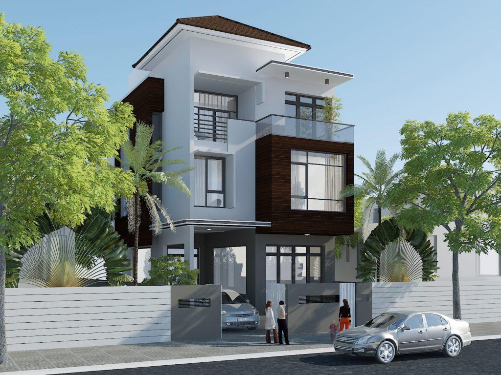 Thiết kế nhà phố phong cách nhà biệt thự sang trọng