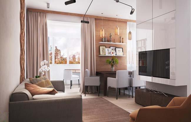 Thiết kế nội thất căn hộ chung cư 45m2 mang phong cách hiện đại thumbnail