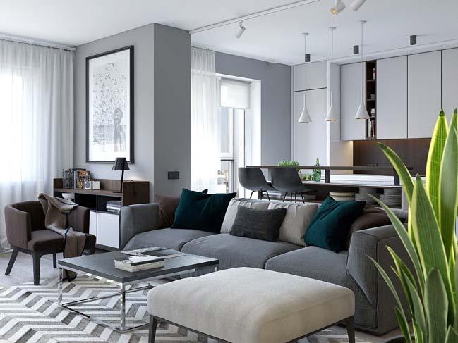 Thiết kế nội thất căn hộ đẹp cao cấp hiện đại sang trọng năm 2018 thumbnail