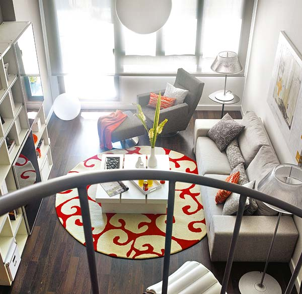 Thiết kế nội thất chung cư 58m2 trẻ trung ấn tượng với gam màu cam post image