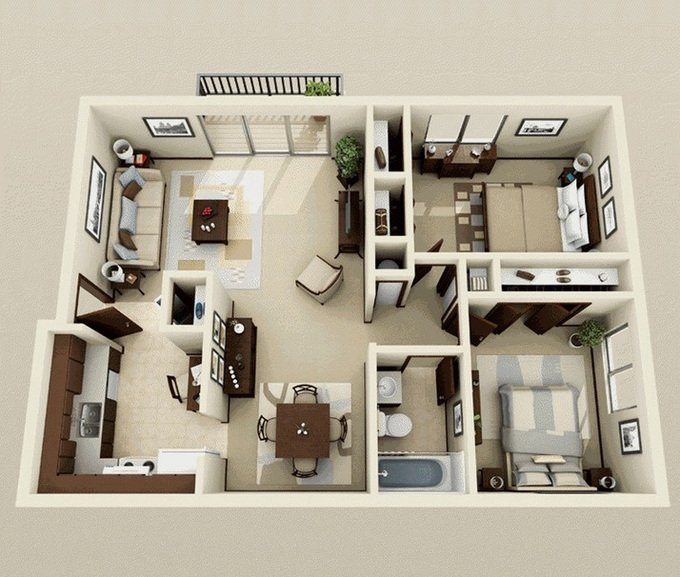 Xu hướng thiết kế mẫu căn hộ 2 phòng ngủ mang phong cách hiện đại post image