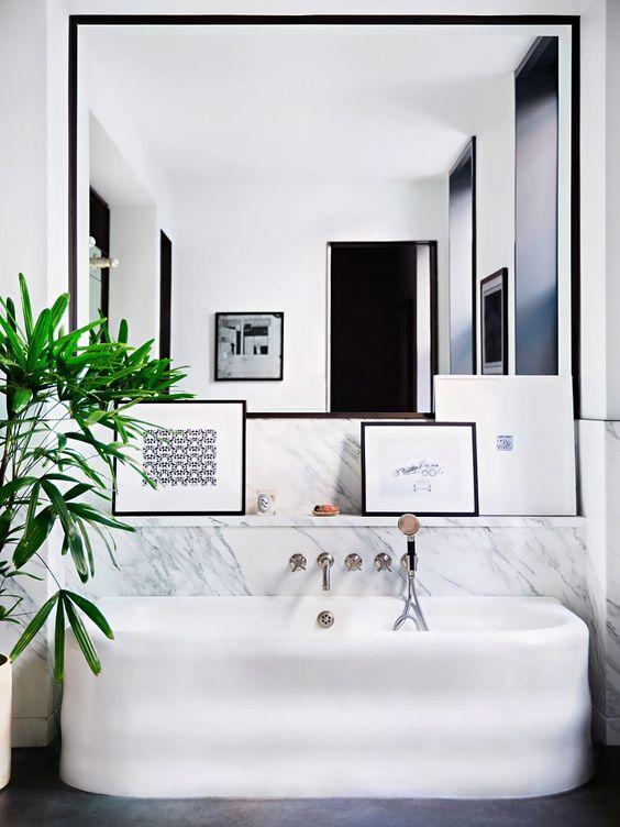 Ý tưởng thiết kế gương lớn trong phòng tắm của bạn post image