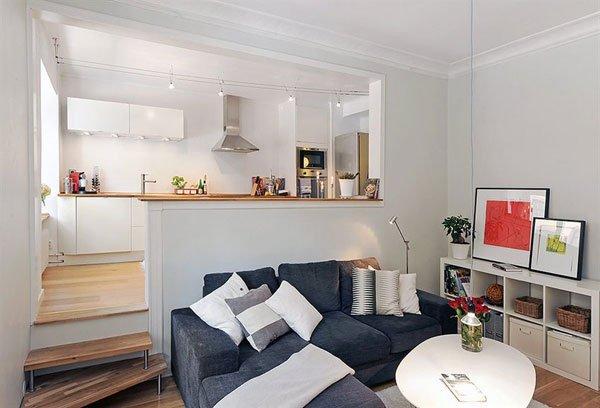 Mẫu căn hộ 2 phòng ngủ 60m2 đẹp với thiết kế nội thất tối giản post image