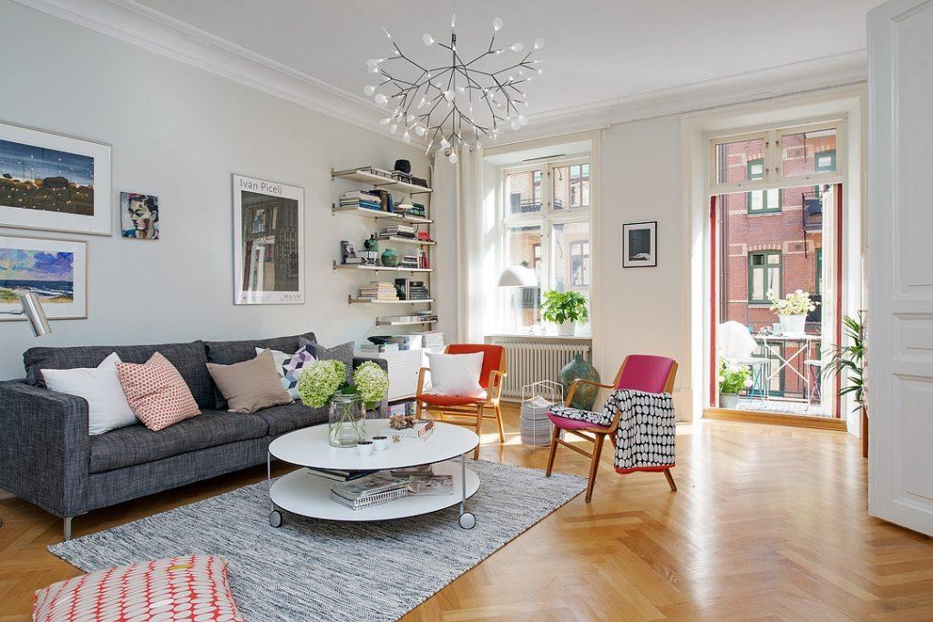 """Mẫu căn hộ đẹp """"thẫn thờ"""" đầy màu sắc theo phong cách Scandinavia thumbnail"""
